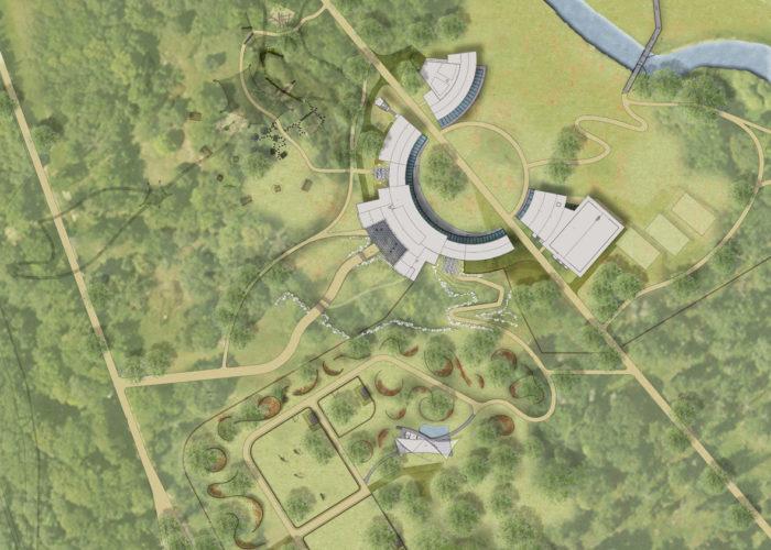 Station touristique Animal Explora de Châteauvillain - Plan masse du coeur de domaine