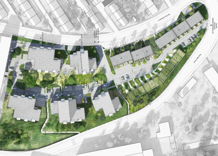 Construction de 140 logements - Boulogne sur Mer - Plan masse concours - TANK Architectes